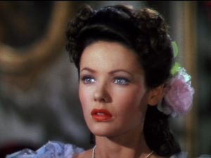 """How can I marry you? I'm not even engaged to you!"" Gene Tierney as Martha Strable."